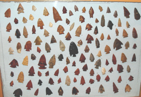 Arrowheads discovered near the Lincoln County, Colorado Ghost Town of Green Knoll
