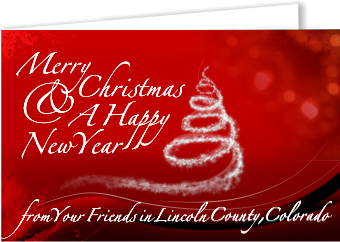 Merry Christmas from your friends in Lincoln County, Colorado
